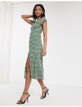 Topshop Ditsy Chuckon Midi Dress by Topshop