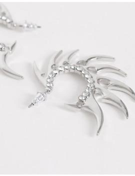 Asos Design – Silverfärgade Creloer Med Tagg Design by Asos Design