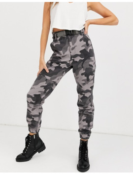 Hollister Structured Utility Jogger In Camo by Hollister