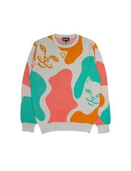 Oversize Camo Knit Sweater (Multi) by Ripndip