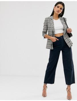 vero-moda-tall---pantalon-court-large-en-velours-côtelé---bleu-marine by vero-moda-tall