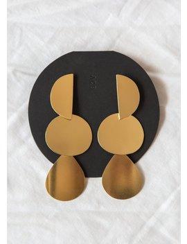 Annie Costello Brown Mattea Earrings   Gold by Garmentory