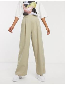 Asos Design Tall   Easy   Pantalon Large En Toile élastiqué à L'arrière by Asos Design