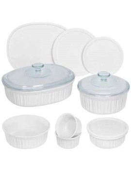 Corningware French White 12 Piece Round And Oval Bakeware Set by Corning Ware