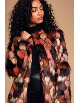Un Fur Gettable Pink Multi Faux Fur Jacket by Lulus