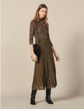 long-lurex-knit-dress by sandro-eshop
