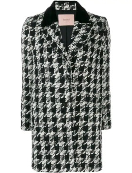 Houndstooth Pattern Coat by Twin Set