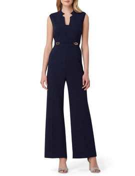 Wide Leg Crepe Jumpsuit by Tahari