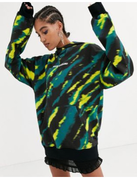 House Of Holland Longline Tie Dye Hoodie by House Of Holland