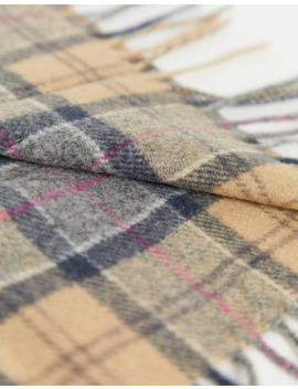 Barbour Tartan Lambswool Check Scarf In Stone by Barbour