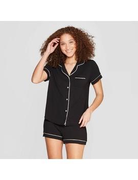 Women's Beautifully Soft Notch Collar Pajama Set   Stars Above™ by Stars Above