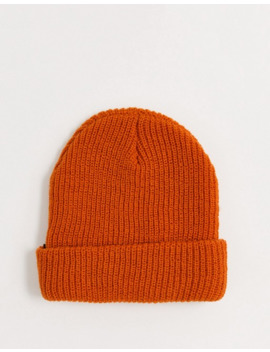 Huf Usual Fisherman Beanie In Orange by Huf