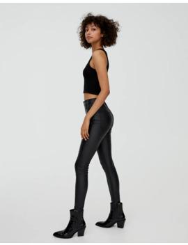 Skinny Jeans Aus Kunstleder by Pull & Bear