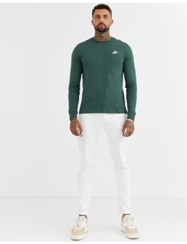nike-club-long-sleeve-t-shirt-in-green by nike