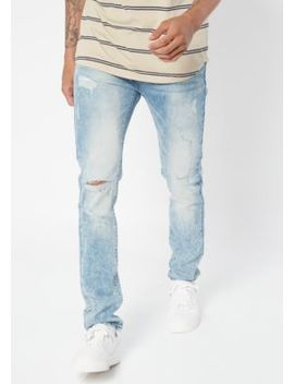 Supreme Flex Light Acid Wash Ripped Skinny Jeans by Rue21