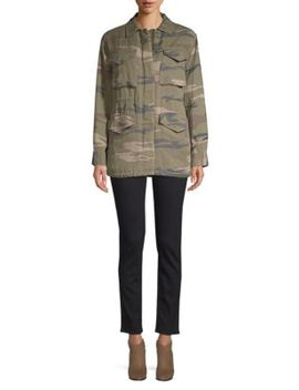 Whitaker Faux Shearling Lined Camo Jacket by Rails