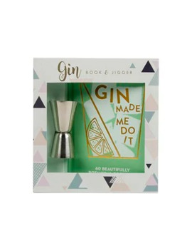 Pink Gin Book & Jigger by Superdrug