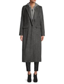Notch Lapel Wool Blend Coat by Avec Les Filles