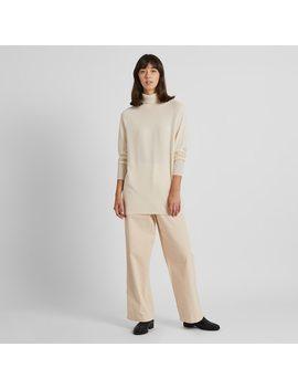 Pantalon Velours CÔtelÉ Coupe Large Taille Haute 7/8Ème Femme by Uniqlo