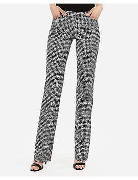 Low Rise Barely Boot Houndstooth Editor Pant by Express