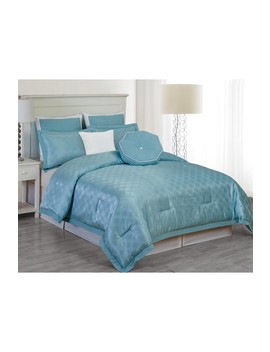 Winston King 7 Piece Comforter Set   Blue by Duck River Textile