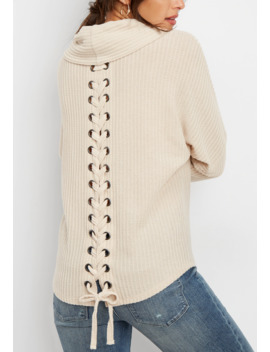 solid-lace-up-back-cowl-neck-pullover by maurices