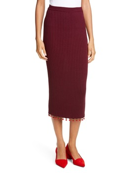 Costa Knit Midi Pencil Skirt by Staud