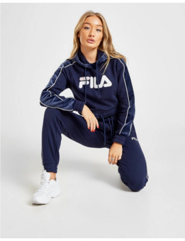 Fila Velour Panel Crop Hoodie by Fila