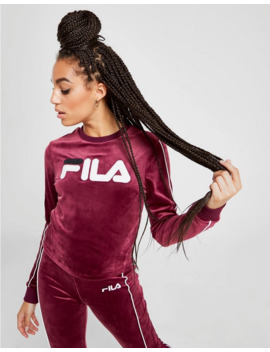 Fila Velvet Long Sleeve Crop Top by Fila