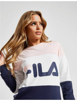 Fila Colour Block Long Sleeve Boyfriend T Shirt by Fila