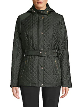 Belted Diamond Quilted Coat by Michael Michael Kors
