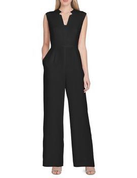 Notch Neck Scuba Crepe Jumpsuit by Tahari Arthur S. Levine