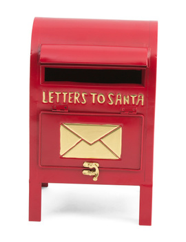13in Metal Santa Red Letter Box by Tj Maxx
