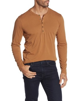 Alvaro Solid Long Sleeve Henley by Velvet By Graham & Spencer