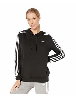 Essential 3 Stripe Fleece Hoodie by Adidas