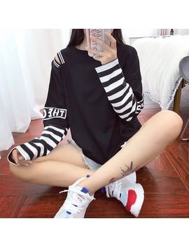 kazarina---langärmliges-shirt-im-layering-look-mit-gestreiften-elementen by kazarina