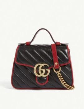 Marmont Mini Leather Shoulder Bag by Gucci