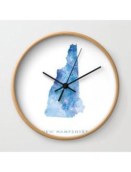 New Hampshire Wall Clock by Society6