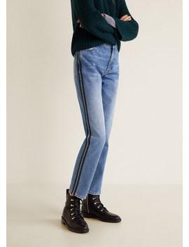 Straight Jeans Mit Kontrastborten by Mango