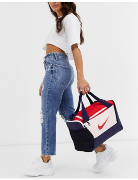 Nike Small Sports Bag In Navy And Pink by Nike