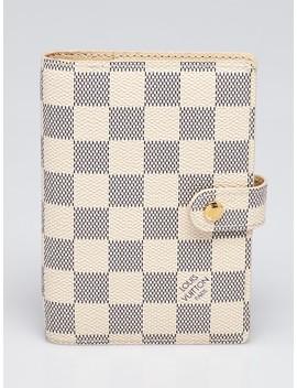 Damier Azur Canvas Small Agenda/Notebook by Louis Vuitton