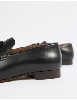 H By Hudson   Bolton   Leren Loafers Met Kwastjes In Zwart by Hudson London