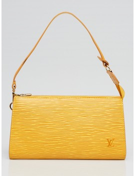 Tassil Yellow Epi Leather Accessories Pochette 24 Bag by Louis Vuitton