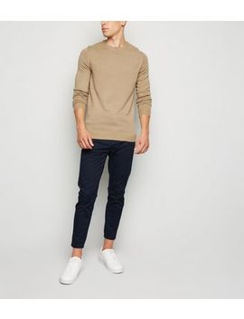 Camel Long Sleeve Crew Jumper by New Look