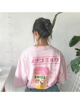Monroll   T Shirt Mit Dreiviertel Ärmeln Und Großem Print Auf Der Rückseite by Monroll