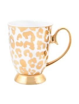 Louis Gold Leopard Mug by Cristina Re