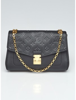 Black Monogram Empreinte Leather St Germain Pm Bag by Louis Vuitton