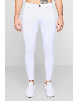 White Skinny Fit Jeans by Boohoo