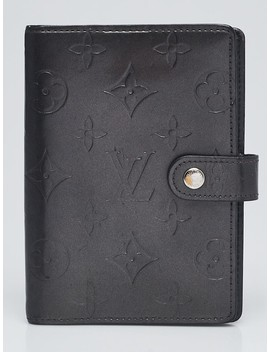 Black Monogram Mat Small Agenda/Notebook Cover by Louis Vuitton