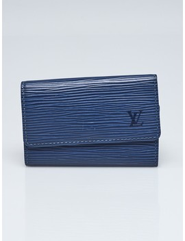 Myrtille Blue Epi Leather Multicles 6 Key Holder by Louis Vuitton